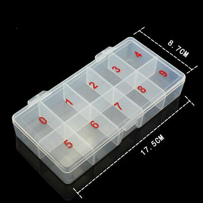 Plastic Storage Box High quality Sturdy Durable Jewelry Screws Nail art items