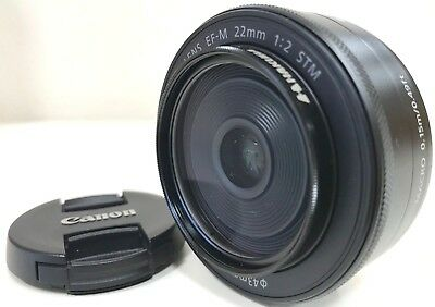 Canon Camera Lens EF-M 22mm F2 STM EF-M222STM Free Shipping Japan