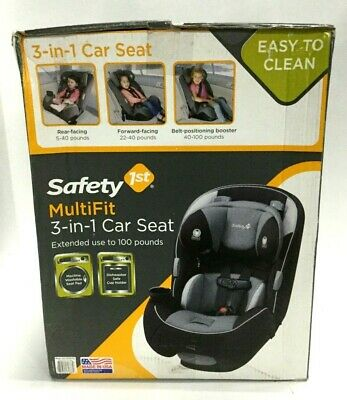 Safety 1st Toddler Child Kids 3 in 1 Multi Fit Rear Forward Car Booster Seat