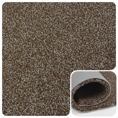 SUPER SOFT 17mm Thick Brown Beige Saxony Felt Back 4m Wide Carpet £10.99Sqm