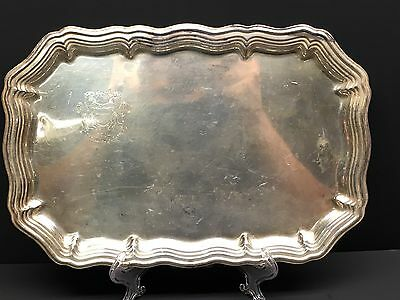 Silver Plate Tray Tir Federal Lausanne 1954 Rifle Shooting Trophy RARE