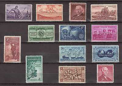 US Stamps 1954-55 Commemorative Set  Sc# 1060 - Sc# 1072 Mint NH  (13 Stamps)