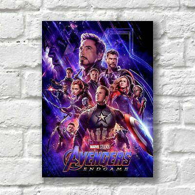 Avengers Endgame Poster A4 NEW Movie 2019 High Quality Print Wall Decor