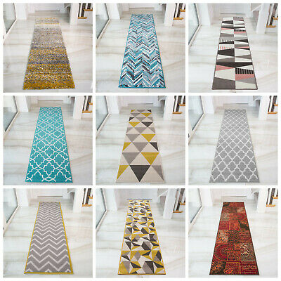 Modern Geometric Hallway Runner Rugs Moroccan Narrow Long Entrance Hall Runners