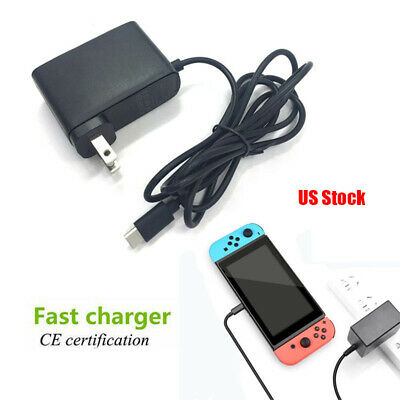 For Nintendo Switch Charger US Plug Chargering Cord AC Adapter Power Supply