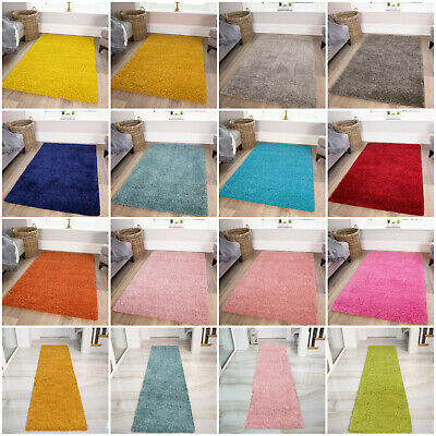 Soft Thick Fluffy Shaggy Rugs Non Shed Living Room Shaggy Mats Cheap Hearth Rug