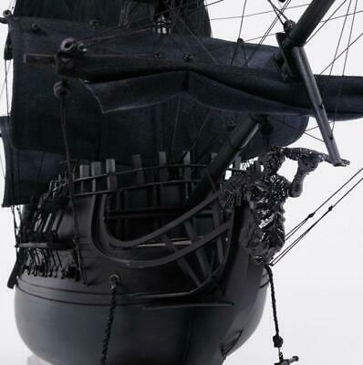 Black Pearl Pirate Ship Midsize With Display Case Model Display