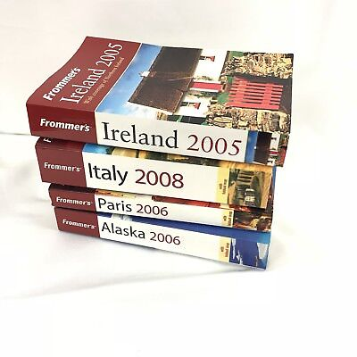 Lot of 4 Frommers Travel Guides Alaska Ireland Italy Paris Books with Maps