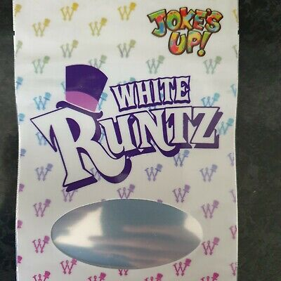 1x White Runtz Mylar Bag Cali tin label jokesup