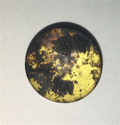 Rare Antique Colonial Imperial London Co. Small Flat Button! Guilt! Scarce! Old!