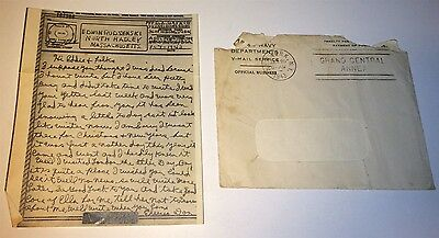 Vintage WWII V-Mail Cpl. D. Gaynor 360th Bomb Squadron Mechanic! Visiting London