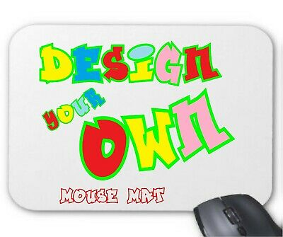 Personalised Mouse Mat Gift Your Photos / Designs / Text Printed Customised