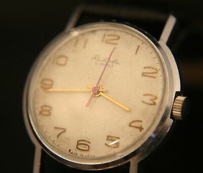 Rare vintage 1960's Soviet, Raketa military 21J manual wind wristwatch serviced!