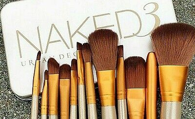 12pcs KABUKI PROFESSIONAL Make up Brushes ROSE GOLD Makeup Foundation Blusher UK