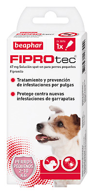 Pipette Antiparasitic Beaphar Fiprotect Dog Small Spot-On - 1 o 4 Pipettes
