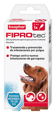 Pipette Antiparasitic Beaphar Fiprotect Dog Medium Spot-On - 1 o 4 Pipettes