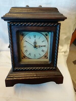 (295)   French Wooden Mantle Peice  Clock With Front Opening And Three Draws Qua