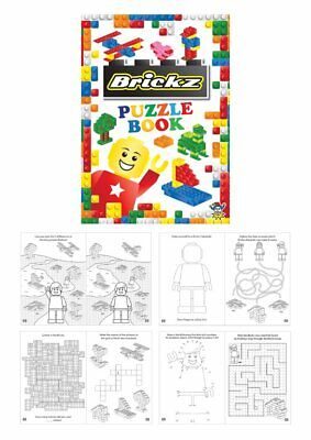BRICKS Childrens Puzzle Activity Colouring Books  Party Bag Fillers Choose Qty