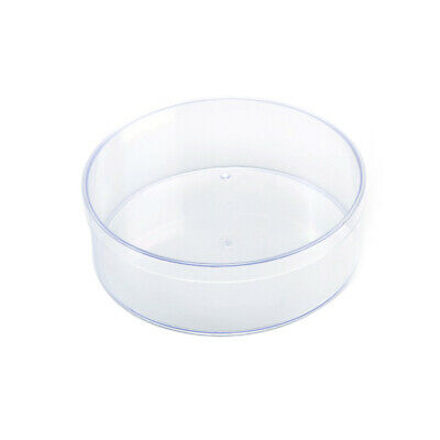 Plastic Round Container, Clear, 6-Inch
