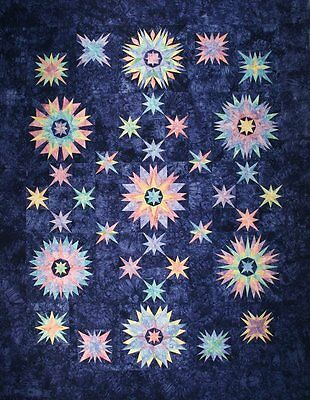 Starr Designs Quilt Kit Shock Wave Queen Size Hand Dyed Cotton Fabrics Crafting