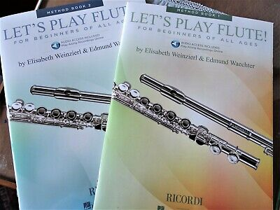 Let's Play Flute 2 Method Books 1/2 Book+ Online Audio by Elisab. Weinzierl NEU
