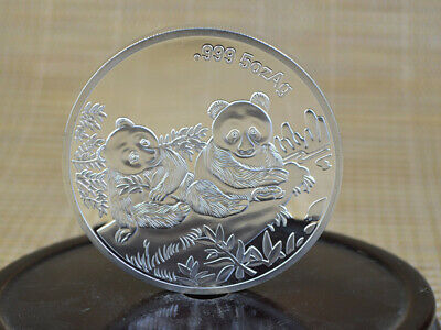 Collection Fine Old 999 Silver Copper Coins China Commemorative Coin Panda 1995