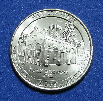 2016-P 25C Harpers Ferry West Virginia National Parks America the Beautiful Qtr