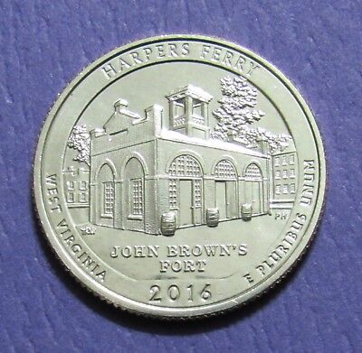2016-S 25C Harpers Ferry West Virginia National Parks America Beautiful Quarter