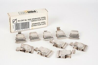 Jobo 10x Stainless steel hooked film clips 8020- NEW OLD STOCK