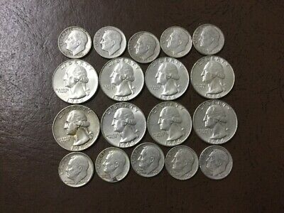 $3 Face Value 90% Silver US Coins, Junk Silver.