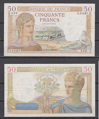 France     50 F  Ceres   09.11.1939