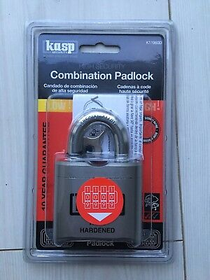 Kasp Security Combination Pad Lock - Model K11960D Open Shackle