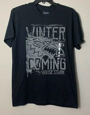 Game of Thrones Winter Is Coming House Of Stark T-Shirt Size Medium NWT