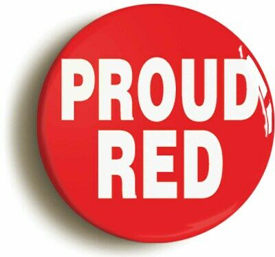 Proud Red Funny Football Badge Button Pin