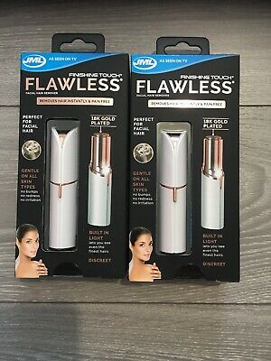 2 X JML Finishing Touch Flawless The Gold-Plated, Discreet Hair Remover