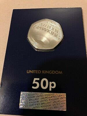 STEPHEN HAWKING 2019 50p Pence Coin BUNC sealed on Change Checker Card