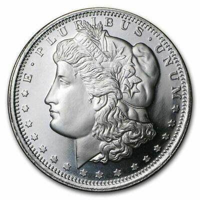 1 Sunshine Mint Roll Of 20 .999 Silver Morgan 1 Oz Silver Rounds Security Mark