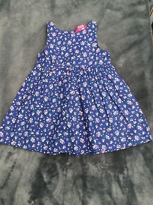 BNWT: JOBLOT x18 Blue Floral 100% Cotton Dresses (4 - 8 yrs) *£2.72 each*