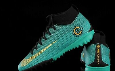 4869d4b28 Nike Jr MercurialX CR7 Superfly 6 Academy GS TF - Jade   Turquoise   Gold