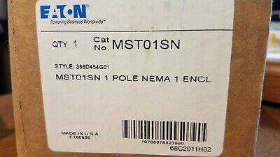 Lot Of 2 - New - Mst01Sn Eaton Motor Starter 1 Pole Nema 1 Enclosure Ships Free