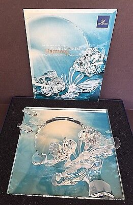 "Swarovski ""HARMONY"" [Clear] 2007 Annual Wonders of the Sea Crystal Ornament"