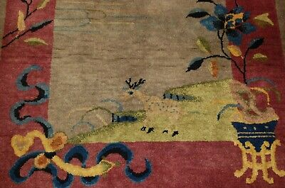 Circa 1920s ANTIQUE MINT ART DECO CHINESE WALTER NICHOLS RUG 3.2x5.10 BEAUTY