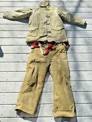 Body Guard Firefighter Coat/jacjket And Pants Turn Outs Set Size Xl Fire Safety