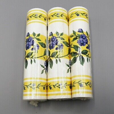 Longaberger ROSE TRELLIS Wallpaper Border 5 yds 1 Roll -3 Avail Yellow Prepasted
