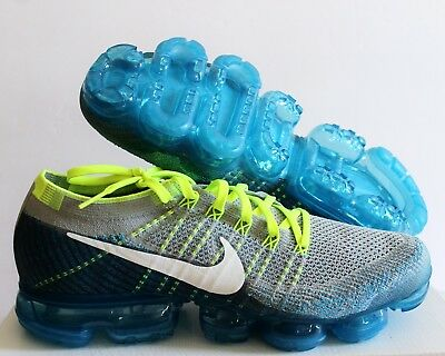 the latest 40e60 608c3 Nike Men Air Vapormax Flyknit Wolf Grey-White-Chlorine Blue Sz 11  849558