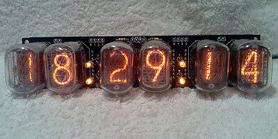 6 Digit In-12 Nixie Tube Clock , 2 Alarms