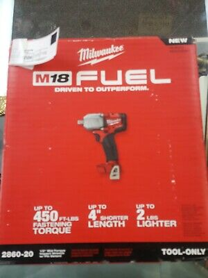 """Milwaukee 2767-20 M18 FUEL ½"""" Impact Wrench W//Friction Ring 1400 lbs Torque NISB"""