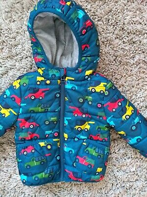 Baby Boys M & S Jacket/coat.cars pattern.age 9-12 months.ex. used condition