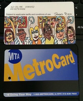 RARE 1995 NYC Subway OLD metro card JAMES RIZZI Expired Metrocard