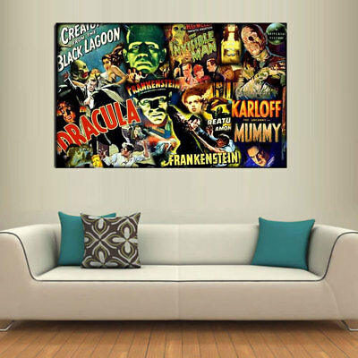 Oil painting HD Print Universal Monsters on Canvas Art Decor 20x32inch/Frameless